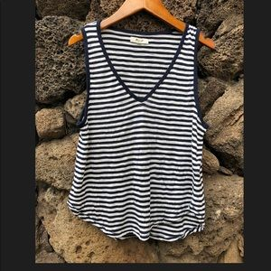 MADEWELL striped tank blue / white S